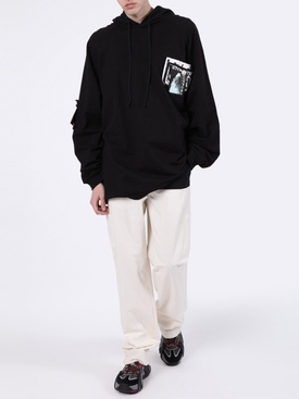 Patches and Pins Logo Hoodie BLACK
