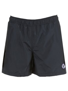 Check print swim shorts DARK NAVY