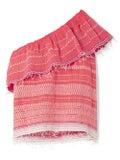 Lemlem - Saba One-shoulder Embroidered Cotton-gauze Top Red - Women