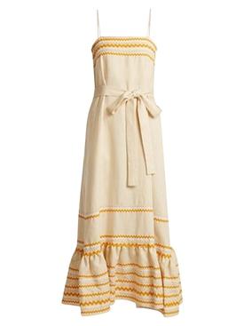 Maxi Linen Belted Dress
