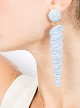 Large Blue Twisty earrings