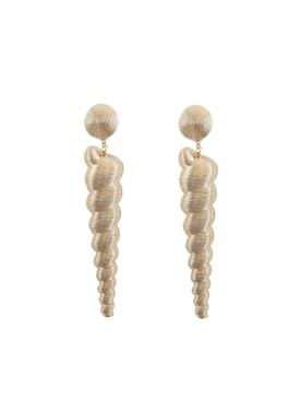large twisty gold earrings