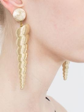 large twisty gold earrings
