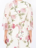 Giambattista Valli - Silk Wide Sleeve Floral Midi Dress Multicolor - Women