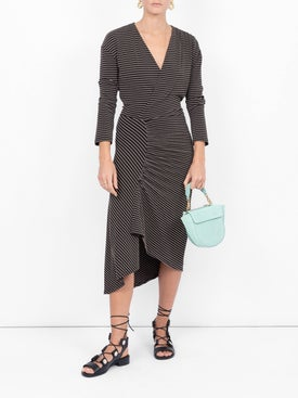 Atlein - Stretch Jacquard Midi Dress - Long-sleeve