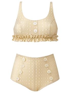 Metallic colby bikini