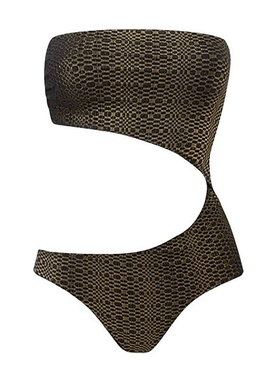 Lisa Marie Fernandez - Gold Bandeau Cut Out Maillot - Women