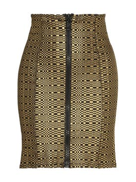 Lisa Marie Fernandez - Metallic Zip Mini Skirt - Women