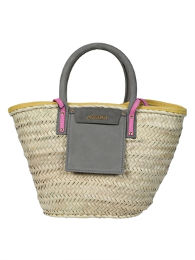 Jacquemus - Grey And Pink Le Panier Soleil Tote Bag - Women