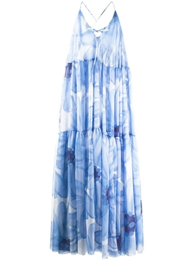 Jacquemus - La Robe Mistral Floral Blue Maxi Dress - Women