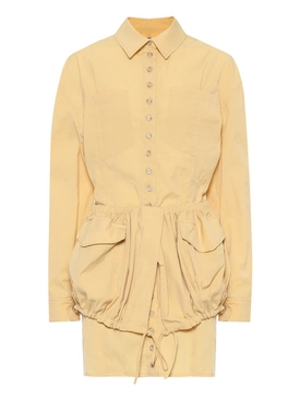 La Robe Cueillette Buttoned Yellow Dress