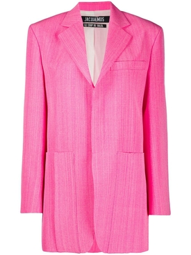 Bright Pink La Vest D'Homme Blazer Jacket