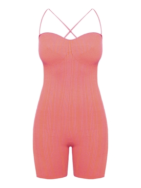 Pink Striped Le Body Arancia Jumpsuit