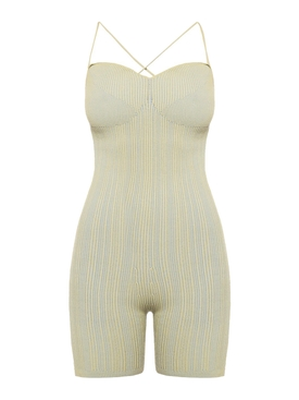 Jacquemus - Green Striped Le Body Arancia Jumpsuit - Women