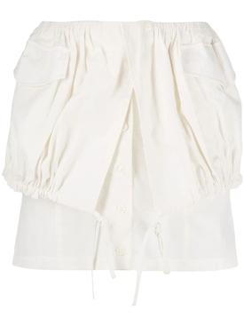 White La Jupe Cueillette Courte Skirt