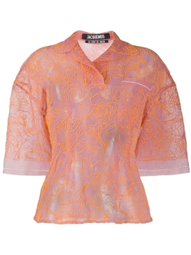 Jacquemus - Le Polo Lavandou Embroidered Top - Women