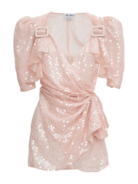 Rose pink sequin mini dress