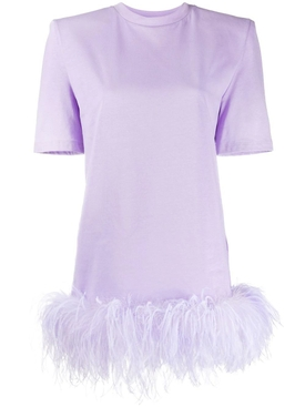 Attico - Lilac Feather Mini Dress - Women