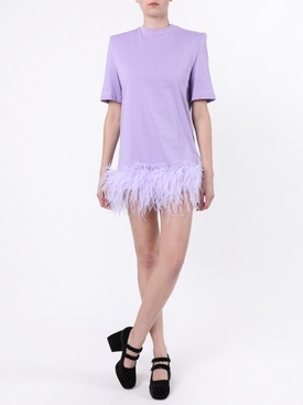 Lilac feather mini dress
