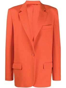 Orange single button blazer