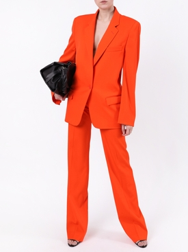 Orange single button blazer