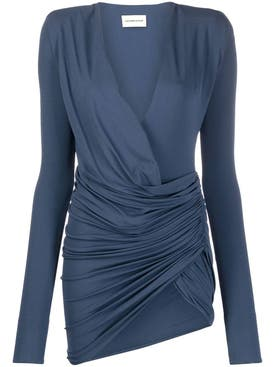 Alexandre Vauthier - Petrol Blue Ruched Mini Dress - Women