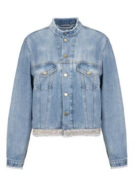 Alexandre Vauthier - Crystal Belt Jeans Jacket Sky Blue - Women