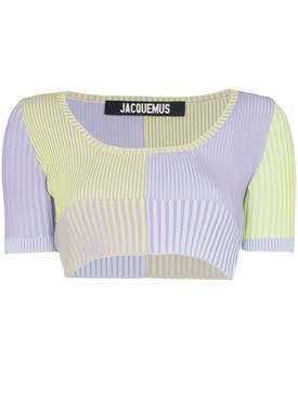 Jacquemus - Multicolored La Maille Yauco Crop Top - Women