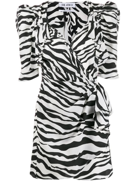 Zebra print mini dress