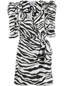 Attico - Zebra Print Mini Dress - Women