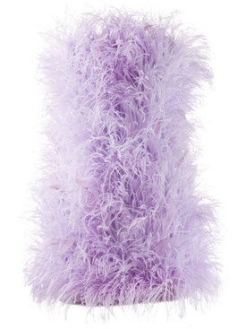 ostrich-feather mini dress