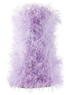 Attico - Ostrich-feather Mini Dress - Women