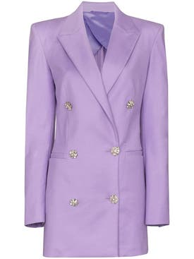 Attico - Lilac Blazer Mini Dress - Women