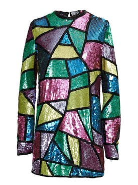 Attico - Geometric Sequin Mini Dress - Women