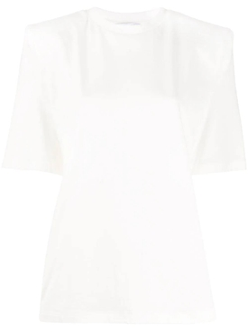 Attico - White Structured T-shirt - Women