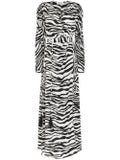 Attico - Zebra Print Maxi Dress - Women