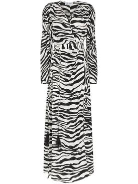 Attico - Zebra Print Maxi Dress - Women