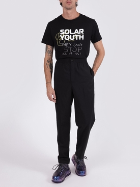 Black cotton Solar Youth t-shirt