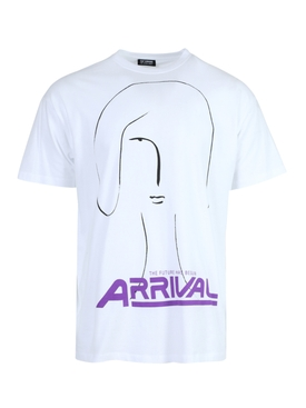 White and purple Arrival t-shirt