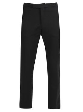 Dark navy slim-fit pants