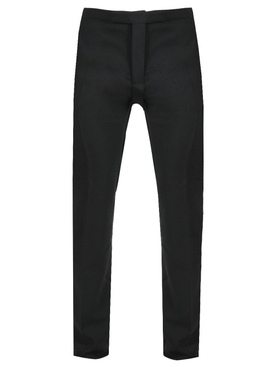 CEREMONIAL SLIM FIT PANTS, BLACK