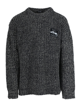 Grey wool oversize sweater