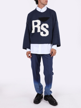 Oversized RS wool sweater BLUE
