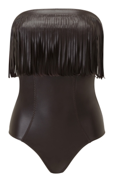 Imaan fringe one-piece swimsuit