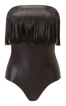 Imaan fringe one-piece swimsuit