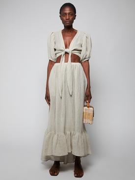 Nicole Chios Gauze Skirt, Oatmeal