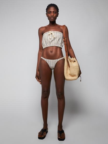 Lisa Marie Fernandez Victor Sand Striped Seersucker Bikini
