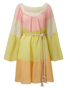 Multicolored peasant dress