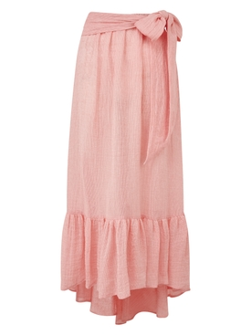 Nicole Pink Chios Gauze Skirt
