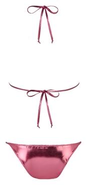 Pink Metallic Pamela String Bikini